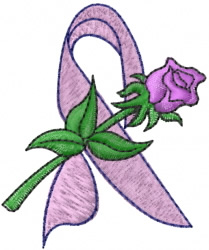 Ribbon With Rose embroidery design