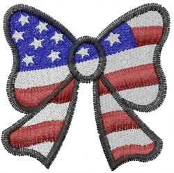 Patriotic Ribbon embroidery design