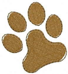 Dogs Paw embroidery design