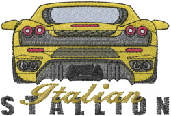 Italian Stallion embroidery design