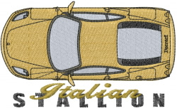 Italian Car embroidery design