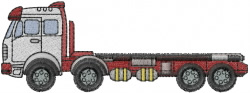 Flatbed Truck embroidery design