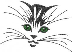 Kitten Eyes embroidery design