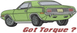 Got Torque embroidery design