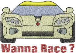 Wanna Race embroidery design