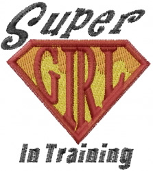 Super Girl Training embroidery design