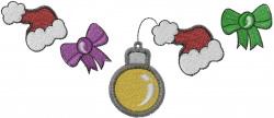 Xmas Ornament embroidery design