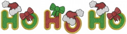 Ho Ho Ho Hat embroidery design