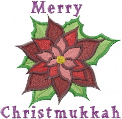 Merry Christmukkah embroidery design