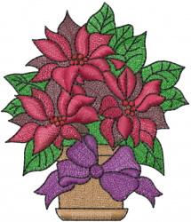 Christmas Poinsettia embroidery design