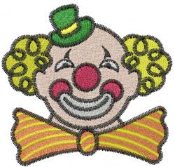 Circus Clown embroidery design