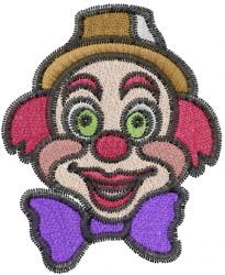 Clown Head embroidery design