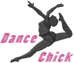 Dance Chick embroidery design