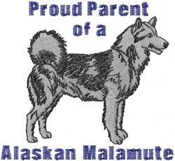 Malamute Parent embroidery design