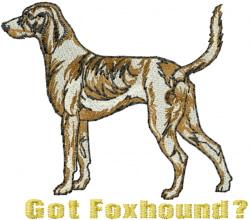 Got Foxhound embroidery design