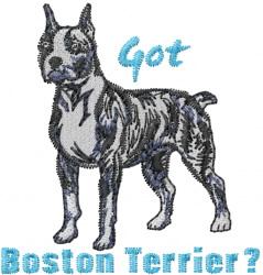 Got Boston Terrier embroidery design