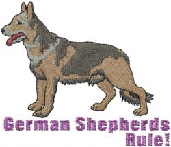 German Shepherds Rule embroidery design