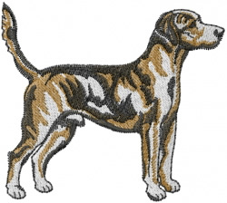 Harrier Hound embroidery design