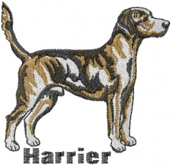 Harrier Dog embroidery design