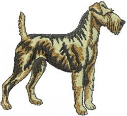 Irish Terrier embroidery design