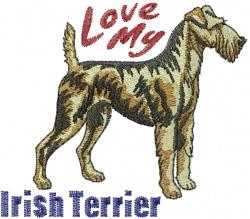 Irish Terrier love embroidery design
