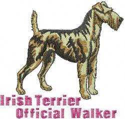 Irish Terrier Walker embroidery design