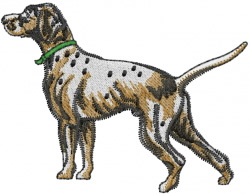 Pointer Dog embroidery design