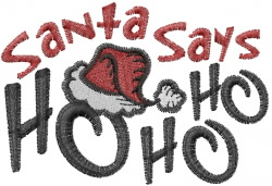 Santa Ho Ho Ho embroidery design