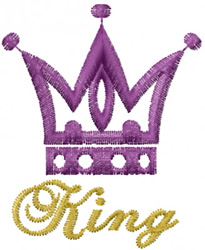 Kings Royal Crown embroidery design