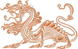 Fantasy Dragon embroidery design
