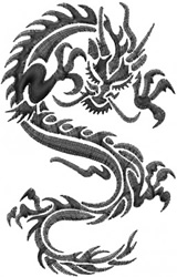 Black Dragon embroidery design
