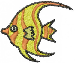 Angel Fish embroidery design