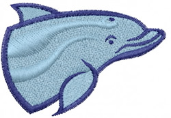 Dolphin Head embroidery design