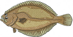 Halibut embroidery design