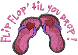 Flip Flop Drop embroidery design