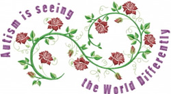 Autism Roses embroidery design