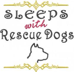Rescue Dogs embroidery design