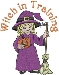 Witch in Training embroidery design