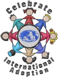 International Adoption embroidery design