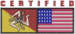 Certified Sicilian American embroidery design