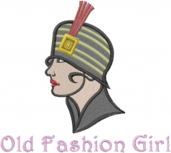 Old fashion Woman embroidery design