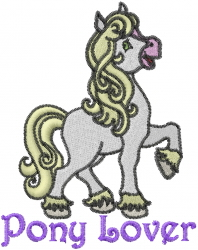 Carousel Pony Horse embroidery design