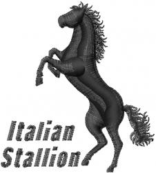Italian Stallion embroidery design