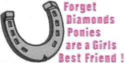 Girls Best Friends embroidery design