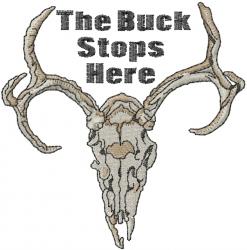 Deer Skull embroidery design