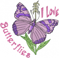 Loving the Butterfly embroidery design