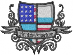 Finnish American embroidery design