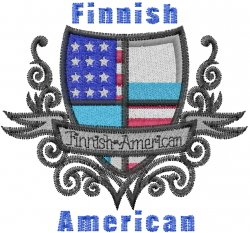 Finnish American embroidery design