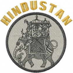 Indian Elephant HINDUSTAN embroidery design
