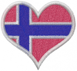 Norway Heart embroidery design